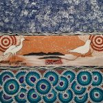 Seagull and Crane - a traditional Lardil story from Mornington Island by Joelene Roughsey, 2020 - Queensland Regional Art Awards Entry, 2020