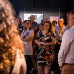 Audience in gallery for floor talk